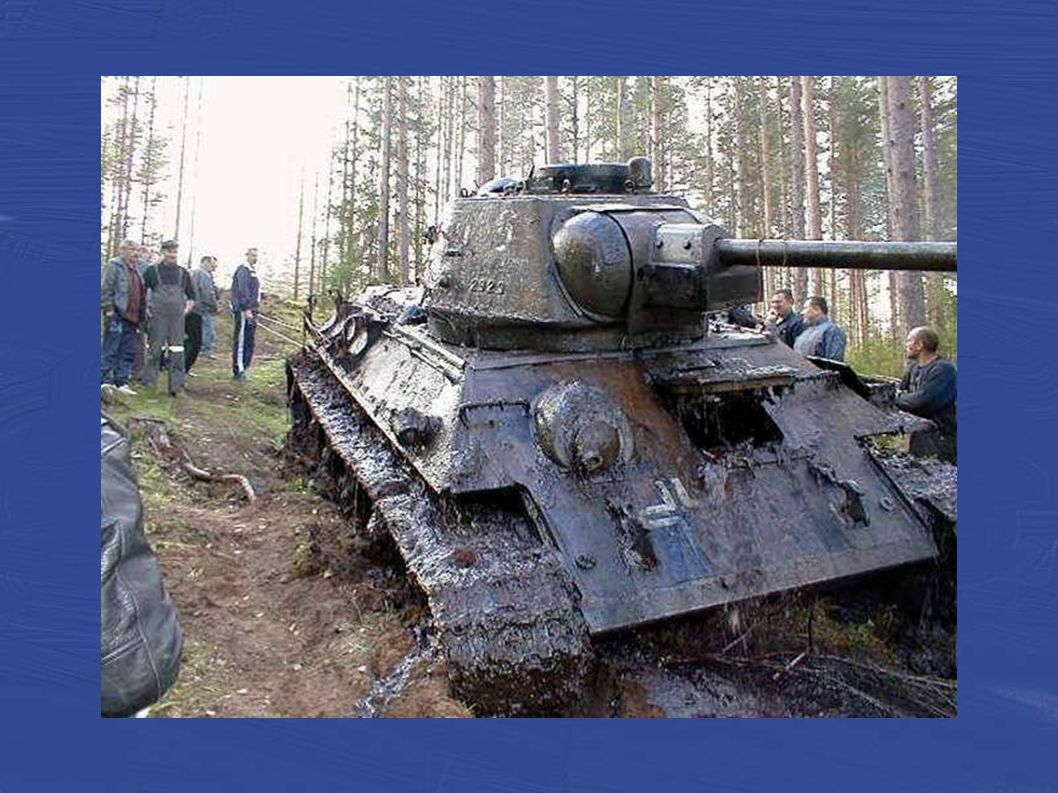 A Komatsu D375A-2 bulldozer pulled the abandoned tank from its tomb under the boggy bank of a lake near Johvi, Estonia.