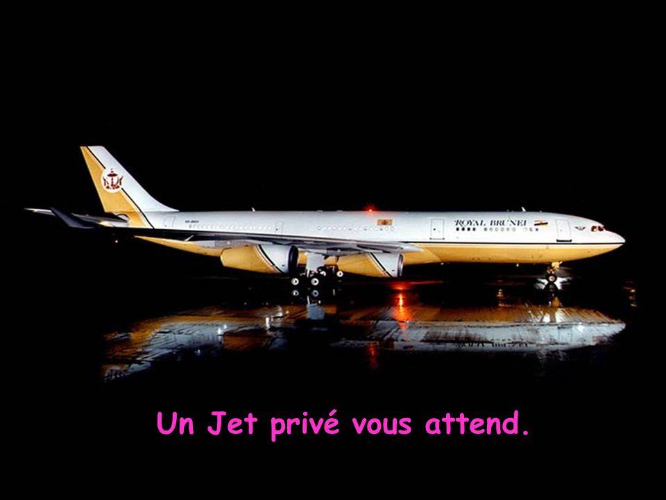 Un Jet privé vous attend.