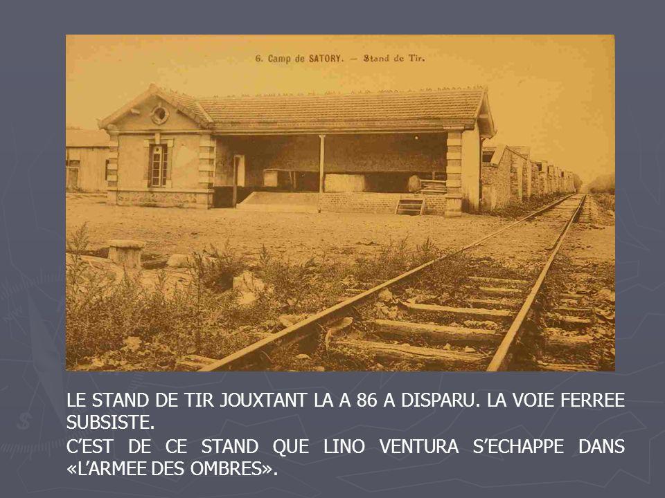 LE STAND DE TIR JOUXTANT LA A 86 A DISPARU. LA VOIE FERREE SUBSISTE. CEST DE CE STAND QUE LINO VENTURA SECHAPPE DANS «LARMEE DES OMBRES».
