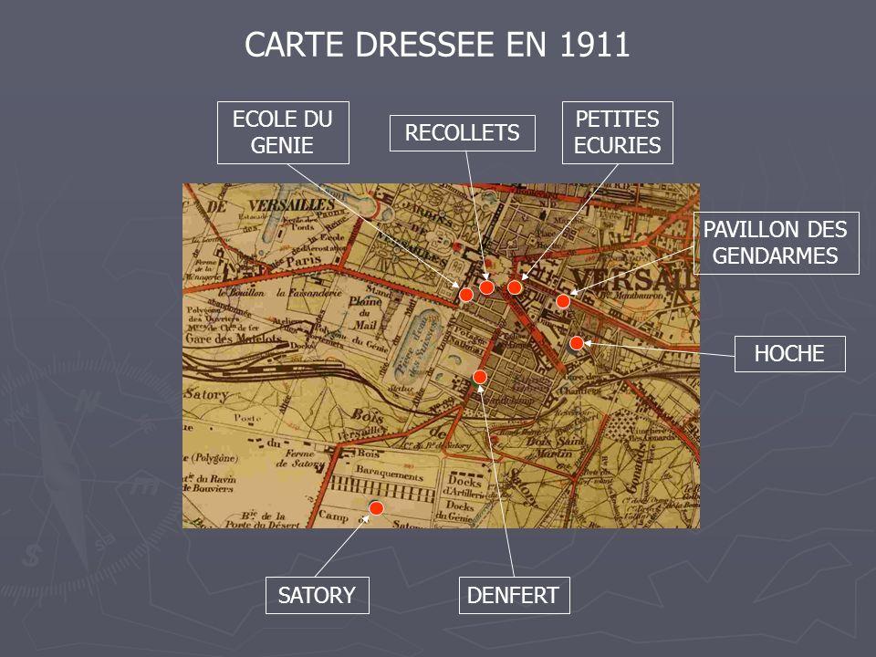 SATORYDENFERT ECOLE DU GENIE PETITES ECURIES PAVILLON DES GENDARMES HOCHE RECOLLETS CARTE DRESSEE EN 1911