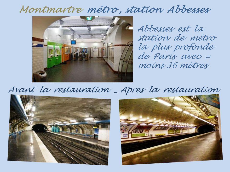 Montmartre bouche de métro... de la station Abbesses