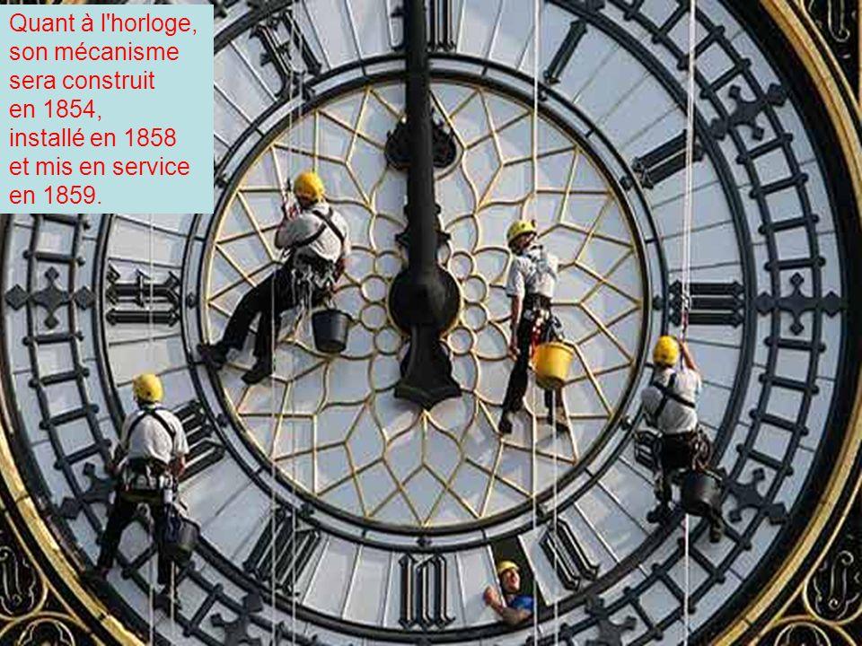 L'ouvrage est confié à Charles Barry, qui adopte un style gothique victorien, en donnant à la tour un peu plus de 96 mètres de hauteur.