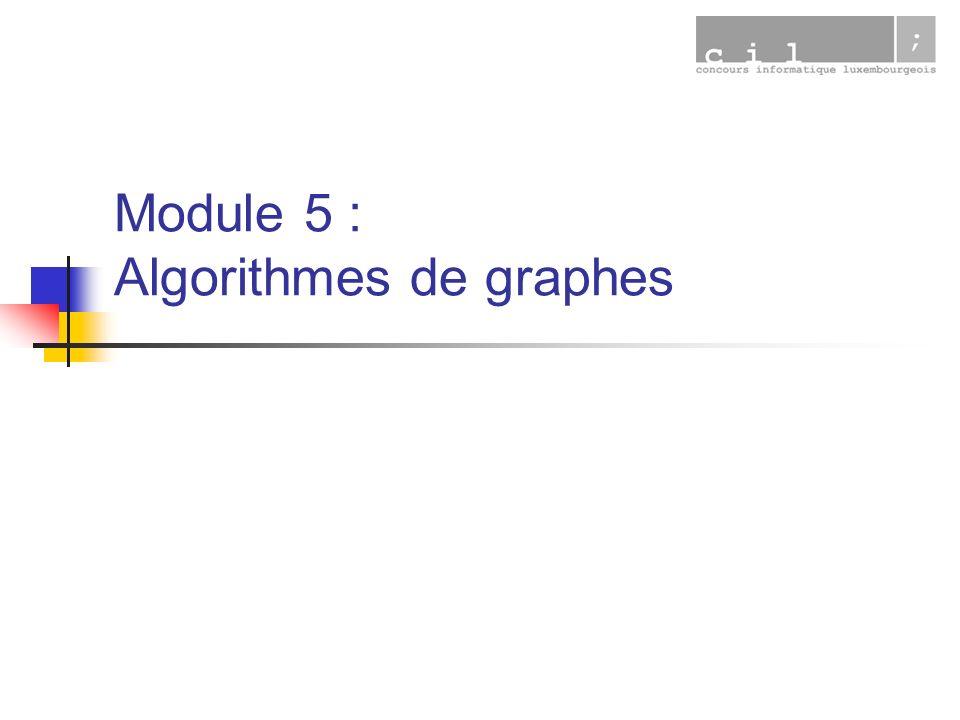 Module 5 : Algorithmes de graphes