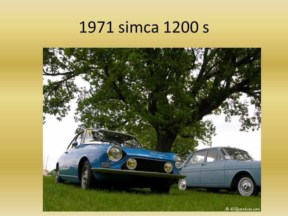 SIMCA 1000 rallyeSIMCA 1000 rallye 1970-19781970197