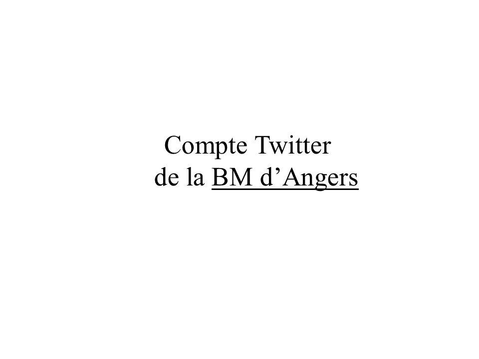 Compte Twitter de la BM dAngersBM dAngers