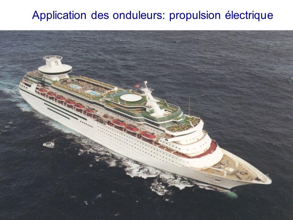 Application des onduleurs: propulsion électrique