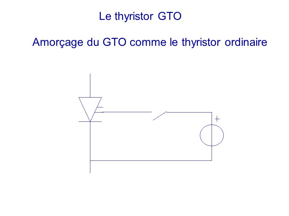Le thyristor GTO Amorçage du GTO comme le thyristor ordinaire