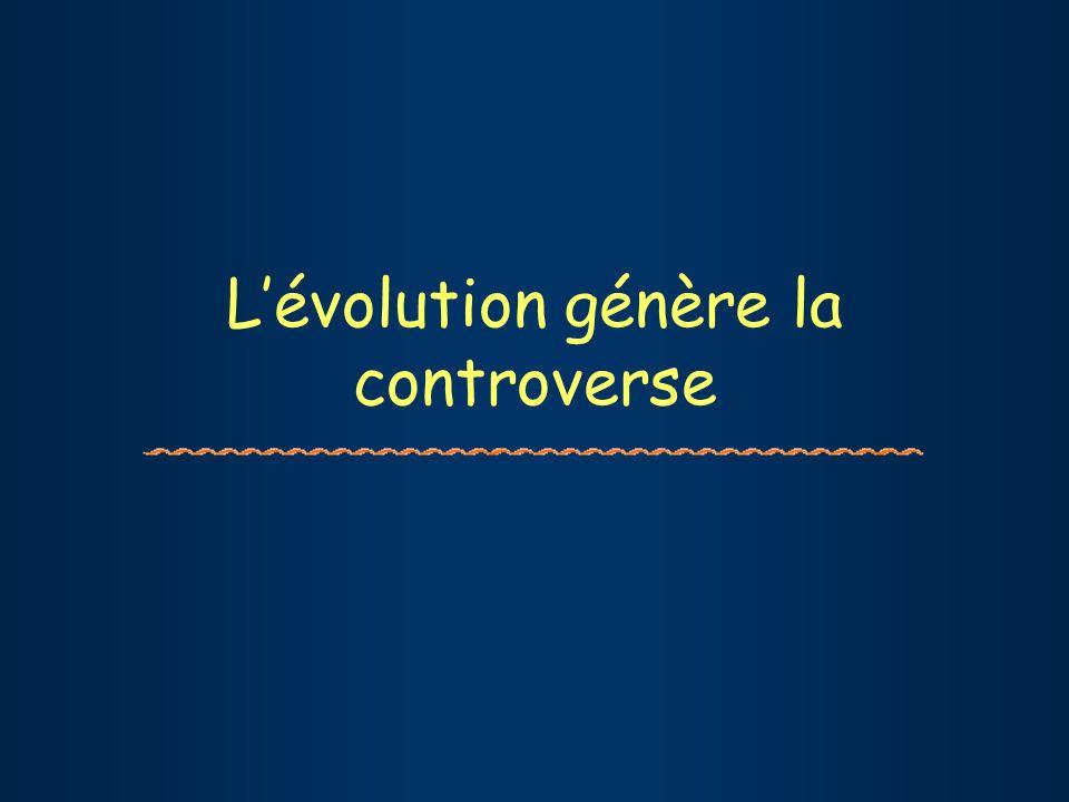 Lévolution génère la controverse