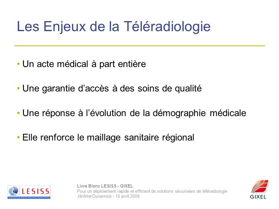 Livre Blanc LESISS - GIXEL Pour un déploiement rapide et efficient de solutions sécurisées de téléradiologie Jérôme Duvernois - 15 avril 2009 Les Enje