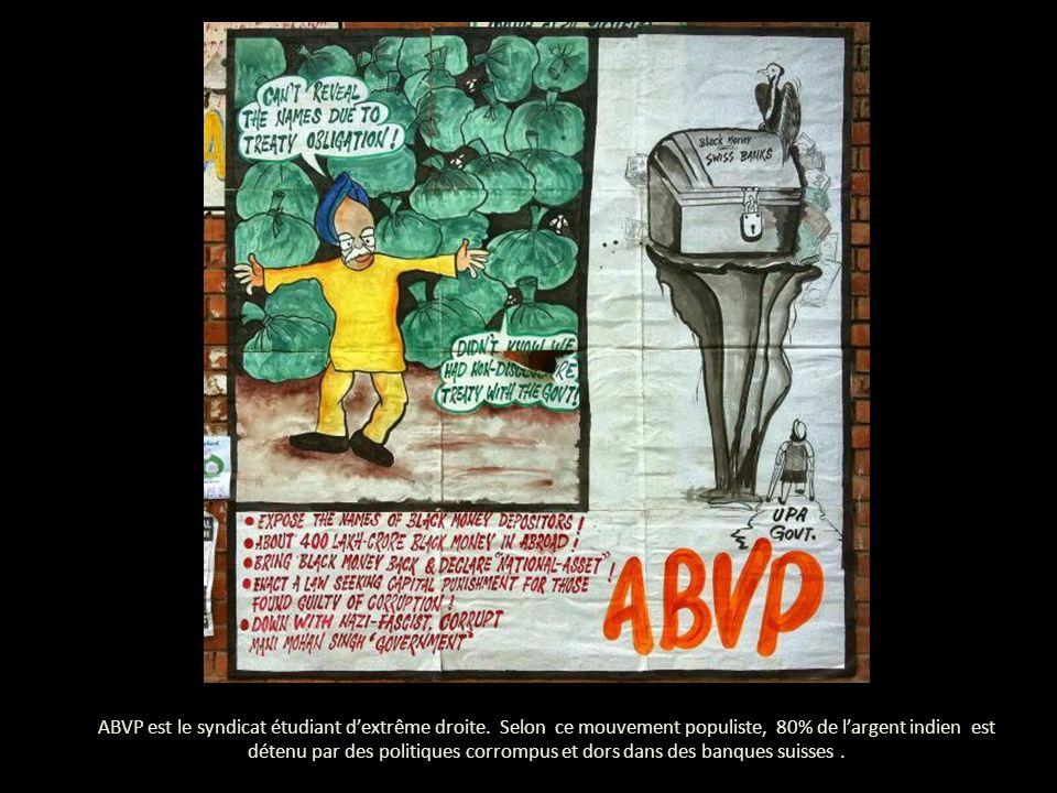 ABVP est le syndicat étudiant dextrême droite.