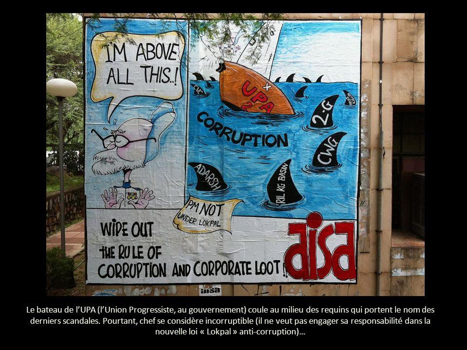 Le bateau de lUPA (lUnion Progressiste, au gouvernement) coule au milieu des requins qui portent le nom des derniers scandales.