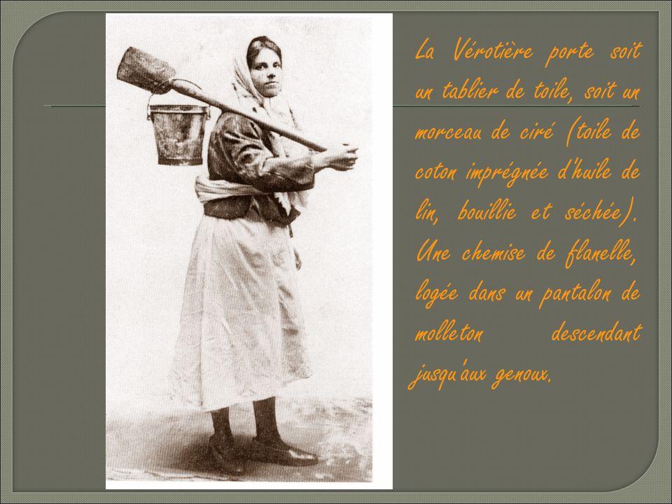 Il y avait au début du siècle dernier 150 à 200 femmes qui pratiquaient le métier de vérotière. Elles devaient se déplacer de Calais à Zuydcoote, tant