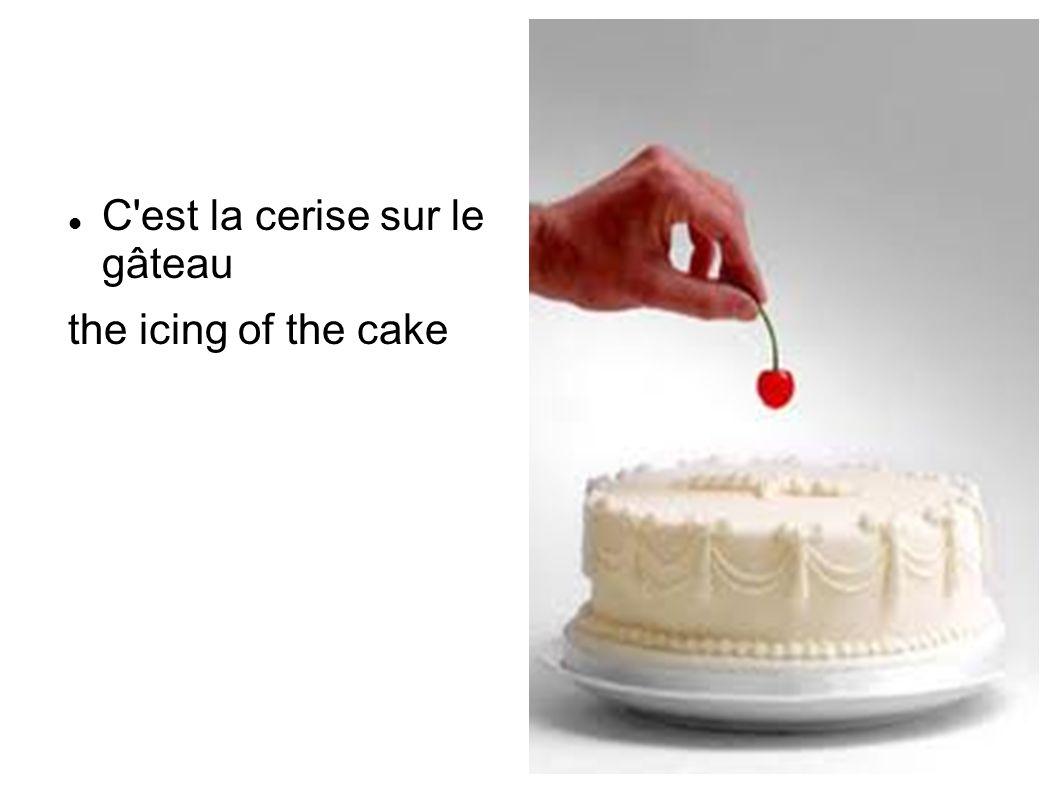 C est la cerise sur le gâteau the icing of the cake