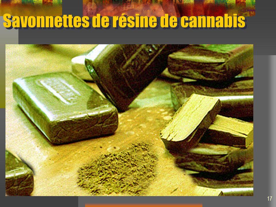 Savonnettes de résine de cannabis 17