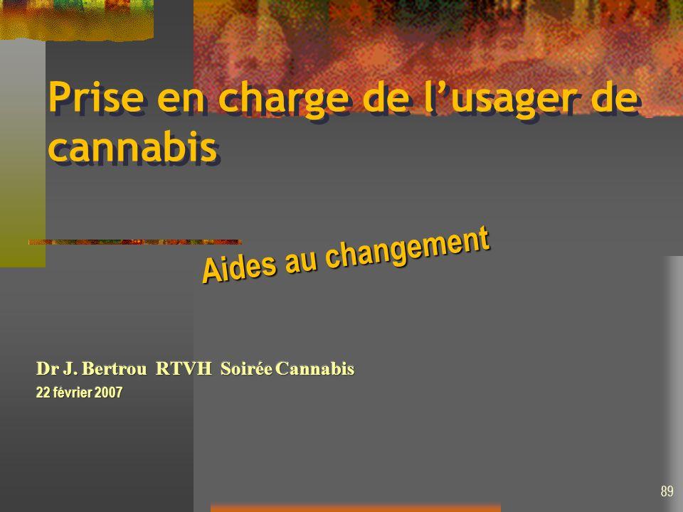 Prise en charge de lusager de cannabis Aides au changement 89