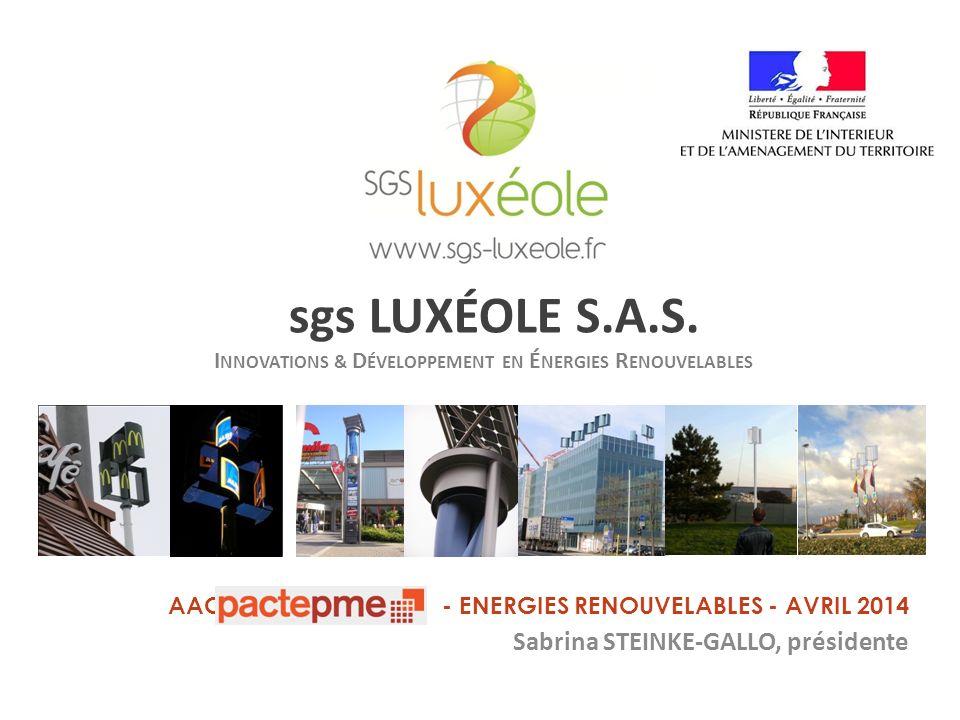 Avec le soutien de sgs LUXÉOLE S.A.S.