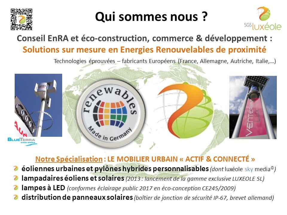 Conseil EnRA et éco-construction, commerce & développement : Solutions sur mesure en Energies Renouvelables de proximité.