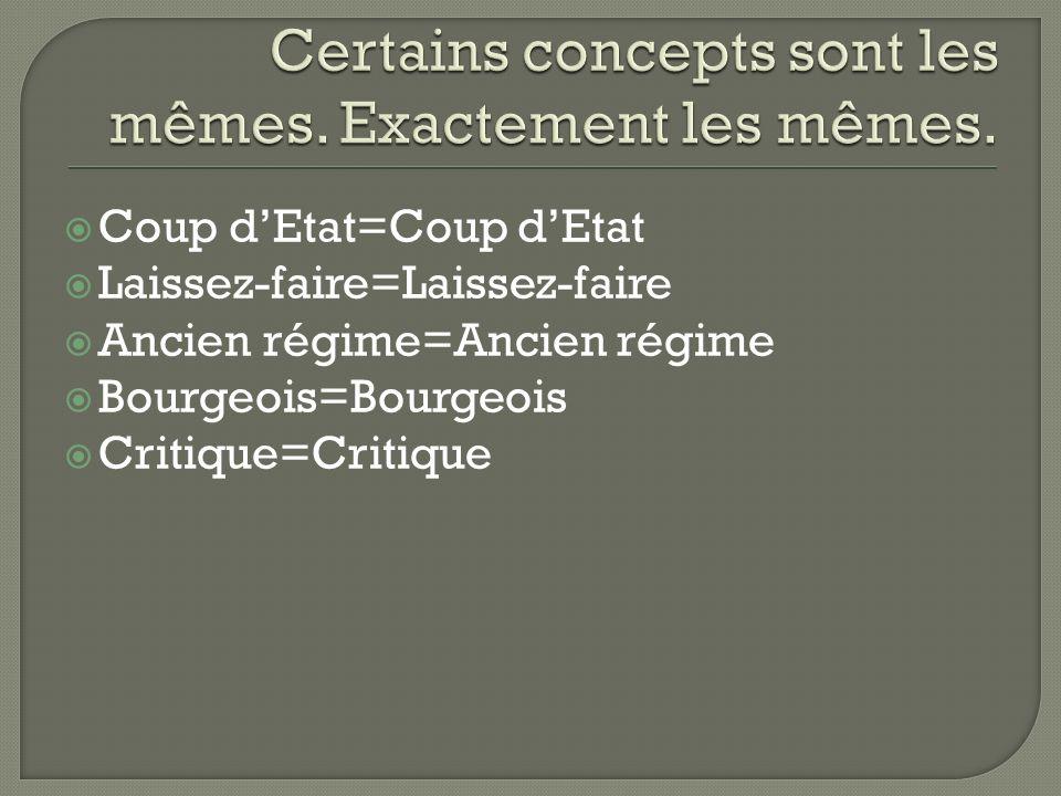 Coup dEtat=Coup dEtat Laissez-faire=Laissez-faire Ancien régime=Ancien régime Bourgeois=Bourgeois Critique=Critique