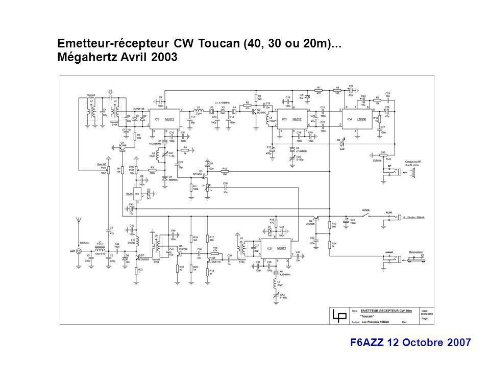 F6AZZ 12 Octobre 2007 Emetteur-récepteur CW Toucan (40, 30 ou 20m)... Mégahertz Avril 2003 ://f5ad.free.fr/
