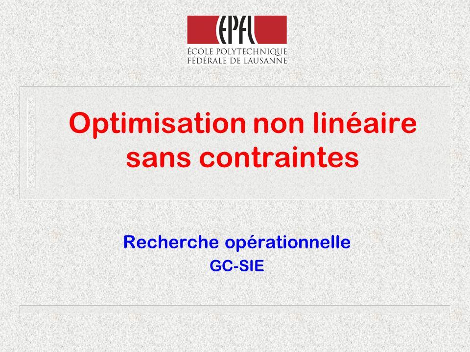 Conditions d optimalitéMichel Bierlaire12 Fonctions à une variable f (x)>0f (x)<0f (x)>0