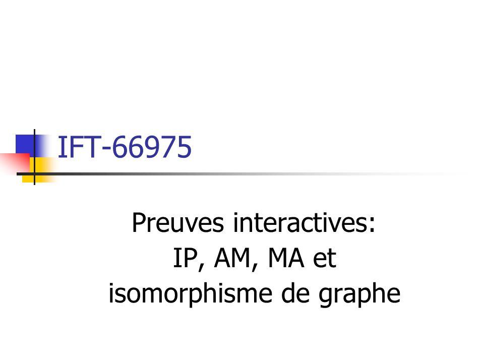 Problème de lisomorphisme de graphe (GI) Entrée: deux graphes non-dirigés G 0 = (V 0,E 0 ) et G 1 = (V 1,E 1 ).