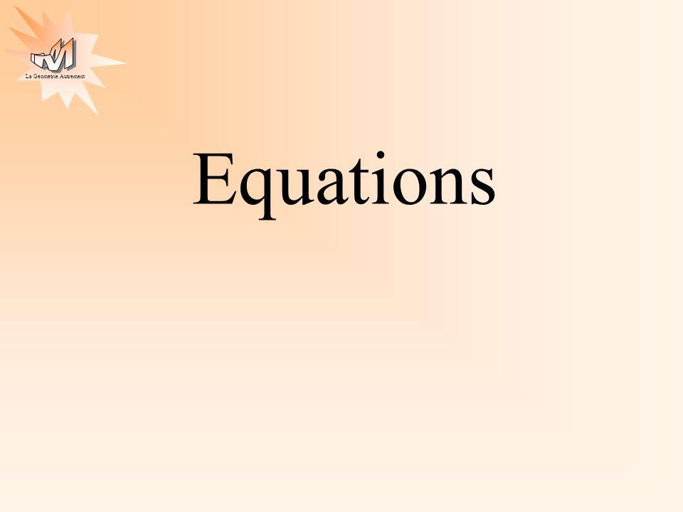La Géométrie Autrement Equations