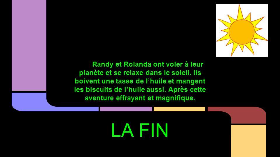 Randy et Rolanda ont voler à leur planète et se relaxe dans le soleil.