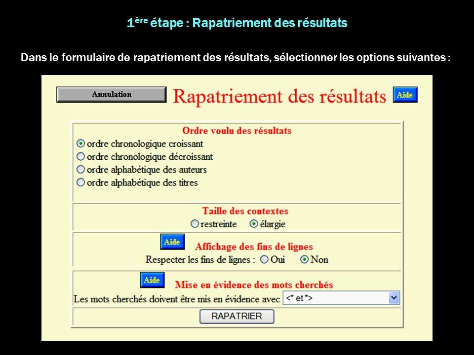 9- Dans la boîte de dialogue « Rechercher et remplacer » : « Rechercher » *> « Remplacer par » *>Tabulation « Remplacer tout » 8- « Edition » « Rechercher » « Remplacer » 7- Dans la boîte de dialogue « Rechercher et remplacer » : « Rechercher » <* « Remplacer par » Tabulation<* « Remplacer tout » Le document est prêt à être envoyé dans Excel.