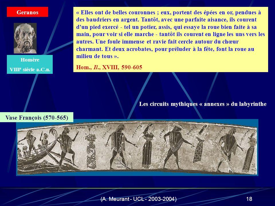 (A. Meurant - UCL - 2003-2004)18 « Elles ont de belles couronnes ; eux, portent des épées en or, pendues à des baudriers en argent. Tantôt, avec une p