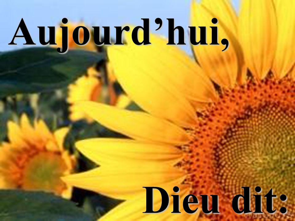 Aujourdhui, Dieu dit: