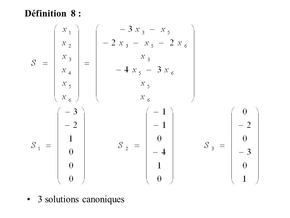 3 solutions canoniques