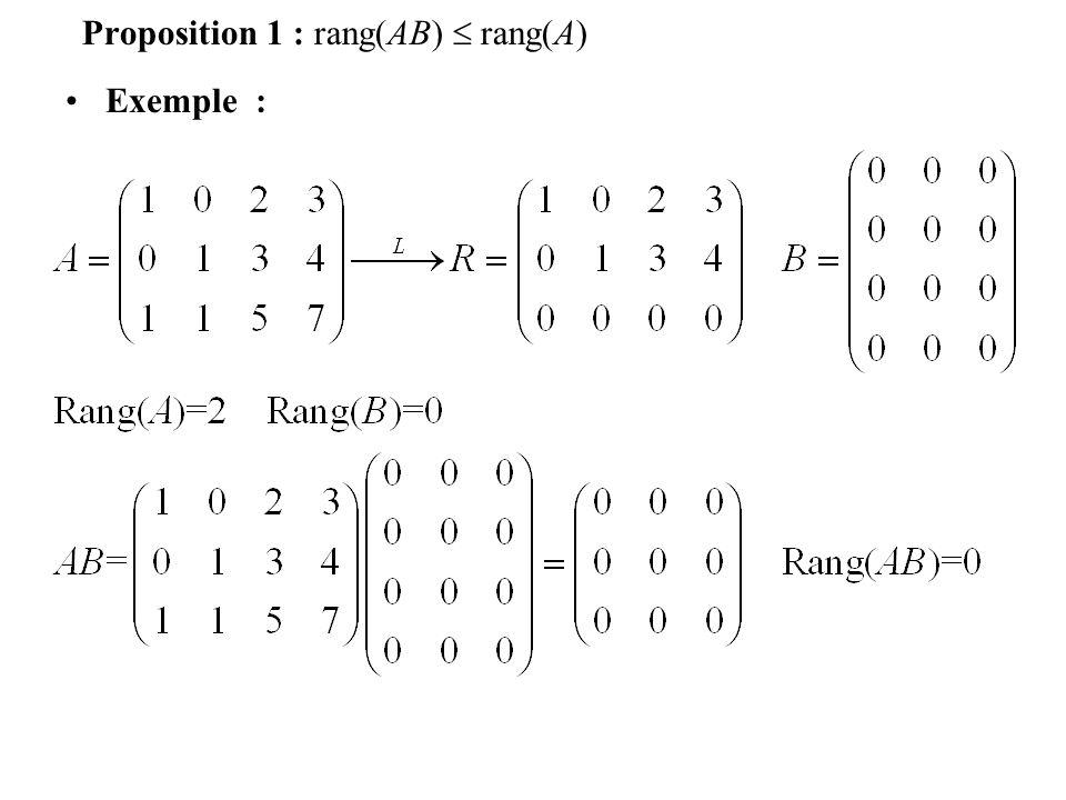 Définition 3 s 1 =1, s 2 = 2, s 3 = 4 est une solution du système :