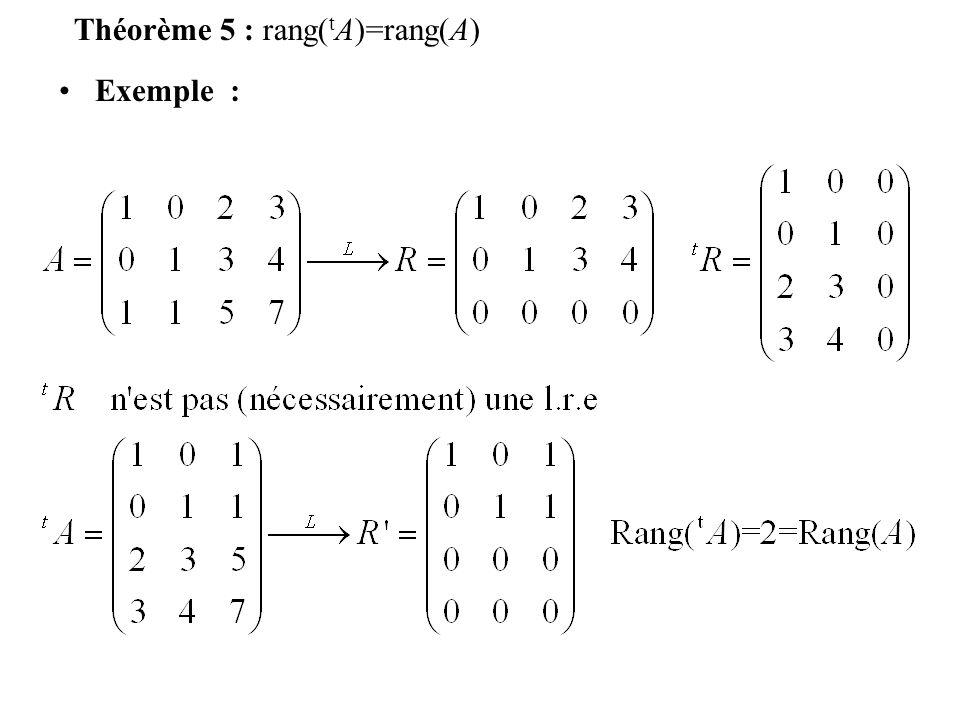 Définition 5 : Deux systèmes linéaires sont équivalents sils ont le même ensemble de solutions Remarque 5 : Cette relation est une relation déquivalence –Réflexive –Symétrique –Transitive