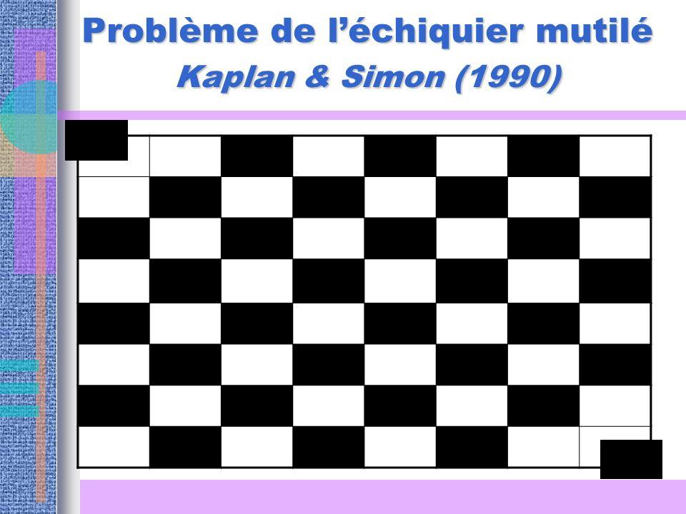 Problème de léchiquier mutilé Kaplan & Simon (1990)