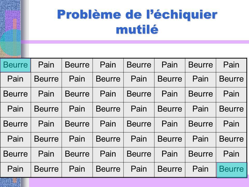 Problème de léchiquier mutilé BeurrePainBeurrePainBeurrePainBeurrePain BeurrePainBeurrePainBeurrePainBeurre PainBeurrePainBeurrePainBeurrePain BeurreP