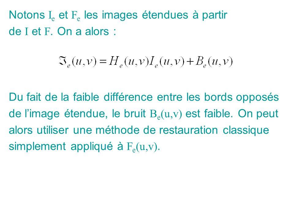 Notons I e et F e les images étendues à partir de I et F. On a alors : Du fait de la faible différence entre les bords opposés de limage étendue, le b