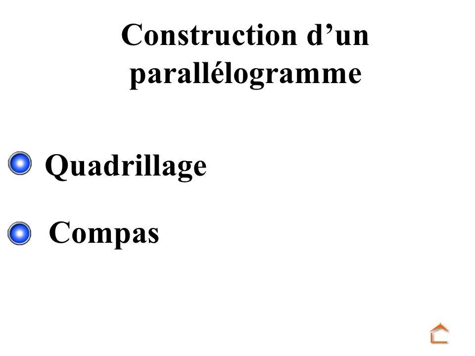 Construction dun parallélogramme Quadrillage Compas