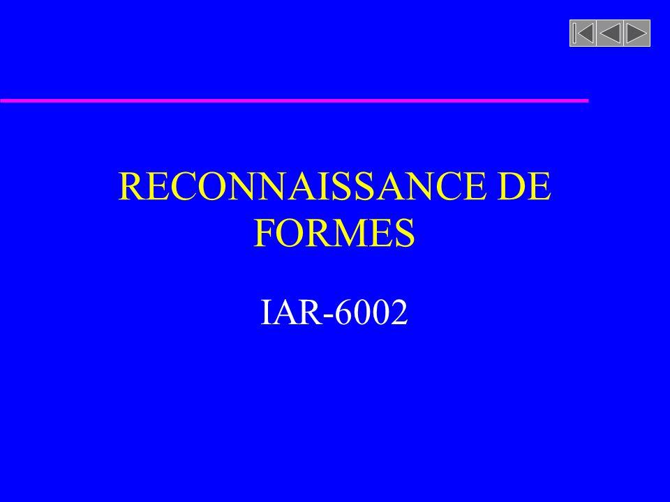 RECONNAISSANCE DE FORMES IAR-6002