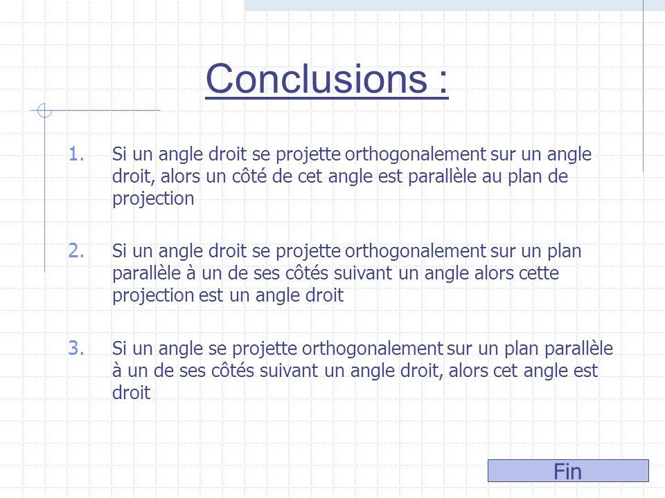 Démonstration Soit A B S A A B BS le plan comprenant S et parallèle au plan Désignons par A et B les projections orthogonales de A et de B sur = = Doù