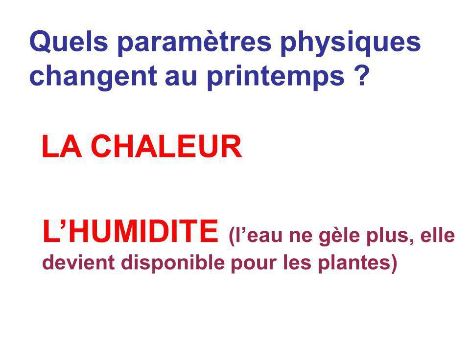Formulez une conséquence possible de lhypothèse: Hypothèse 1 La présence de chaleur est une condition nécessaire à la germination.