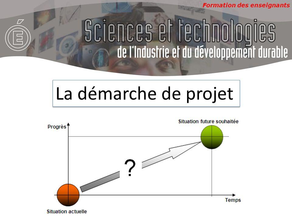 Formation des enseignants La démarche de projet