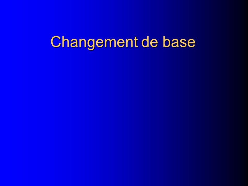 Changement de base