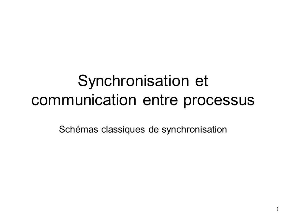 1 Synchronisation et communication entre processus Schémas classiques de synchronisation
