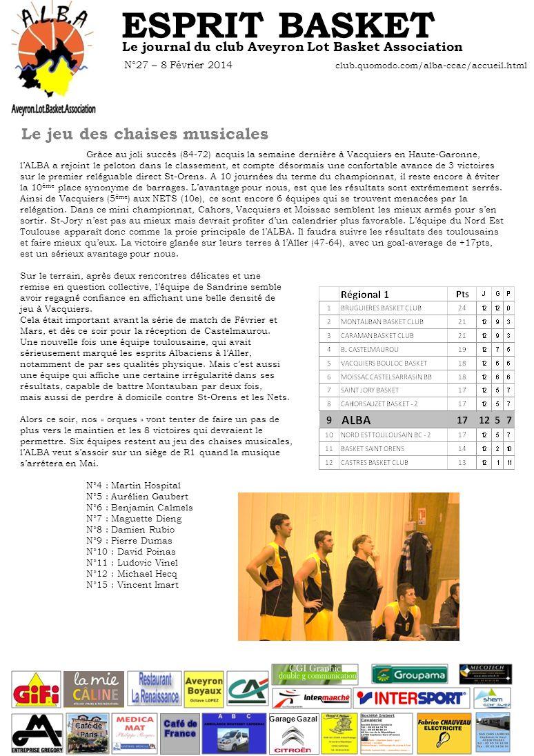 GROS PLAN SUR … Sandrine DEBONS, basketteuse dadoption Avais-tu déjà été bénévole dans une association avant .