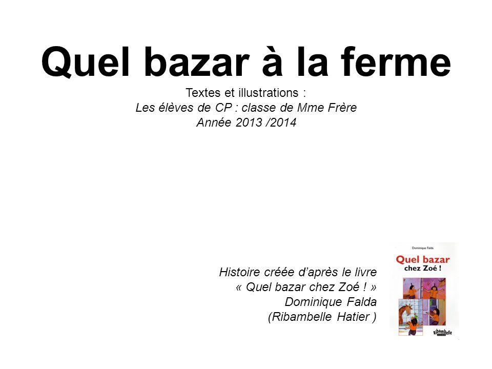Histoire créée daprès le livre « Quel bazar chez Zoé ! » Dominique Falda (Ribambelle Hatier ) Quel bazar à la ferme Textes et illustrations : Les élèv