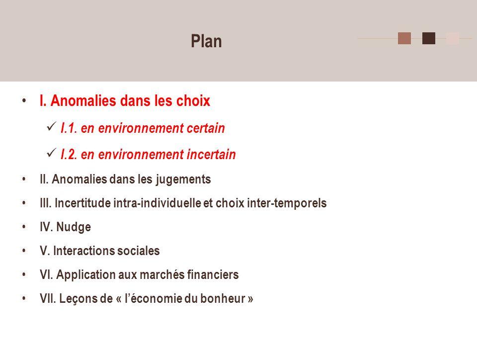 13 Choix en environnement risqué ou incertain.