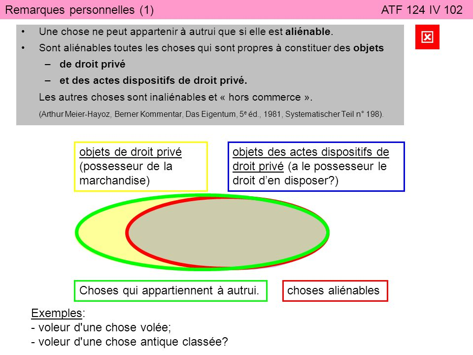 Remarques personnelles (2) ATF 124 IV 102