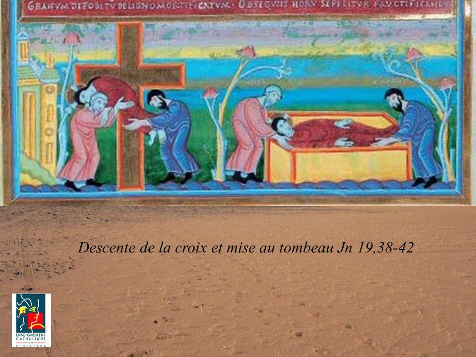 Descente de la croix et mise au tombeau Jn 19,38-42