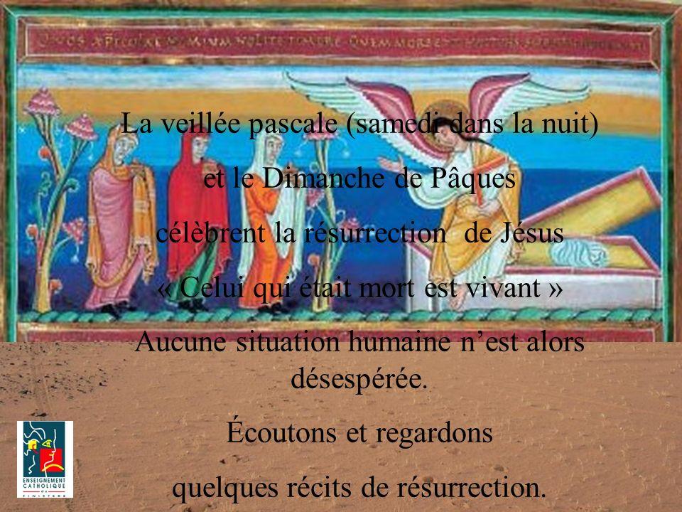 La veillée pascale (samedi dans la nuit) et le Dimanche de Pâques célèbrent la résurrection de Jésus « Celui qui était mort est vivant » Aucune situat