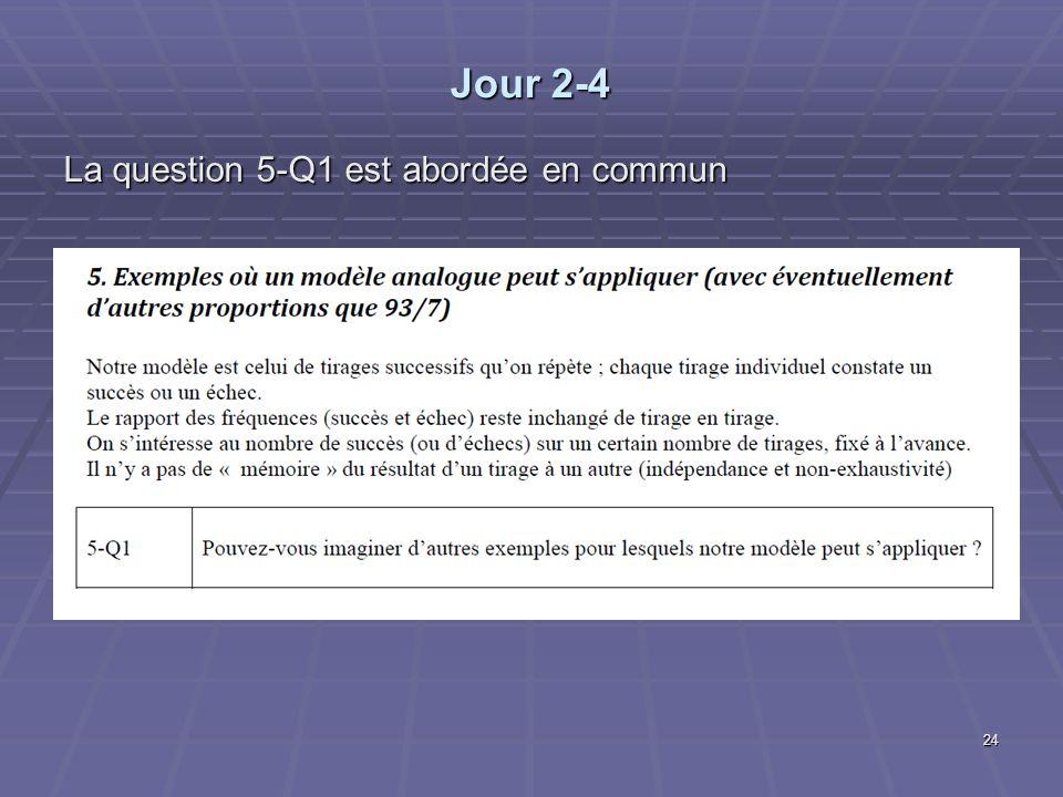 Jour 2-4 La question 5-Q1 est abordée en commun 24